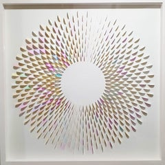 No Intervention Big Random - contemporary modern abstract paper relief painting
