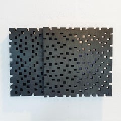 Reflexion ritmique III - contemporary modern geometric sculpture painting relief