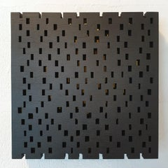 Double rythme I - contemporary modern geometric sculpture painting relief