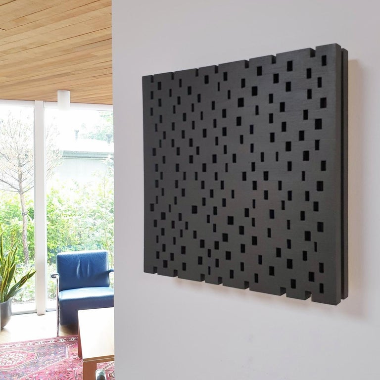Double rythme I - contemporary modern geometric sculpture painting relief - Painting by Olivier Julia