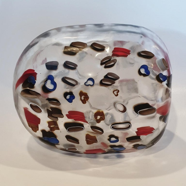 Hilary Crawford Abstract Sculpture - There is everything and nothing - contemporary modern abstract glass sculpture