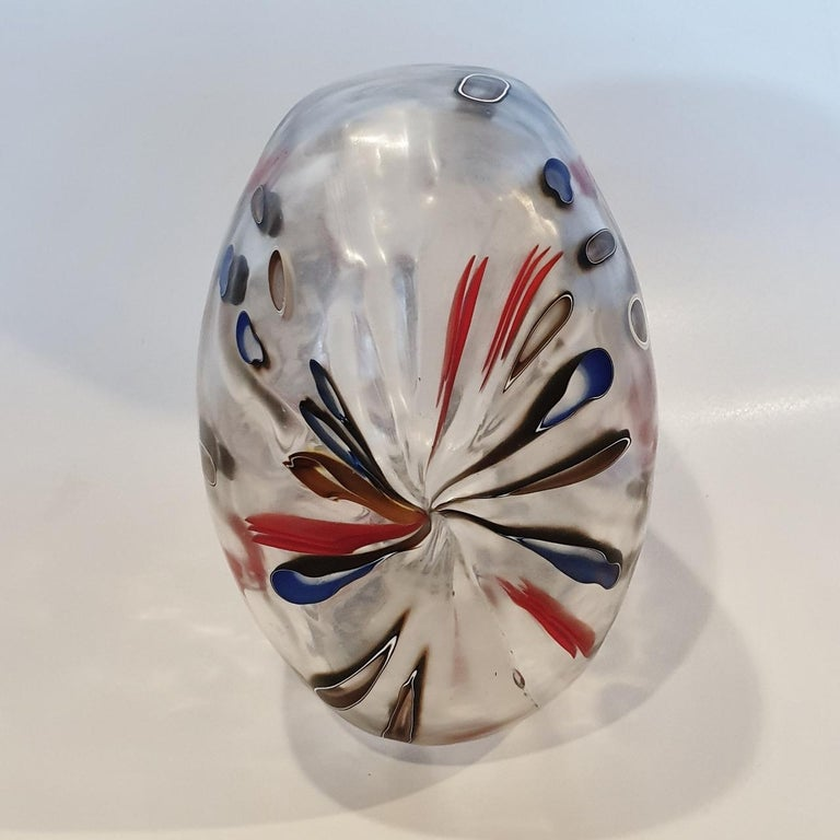 There is everything and nothing - contemporary modern abstract glass sculpture - Gray Abstract Sculpture by Hilary Crawford