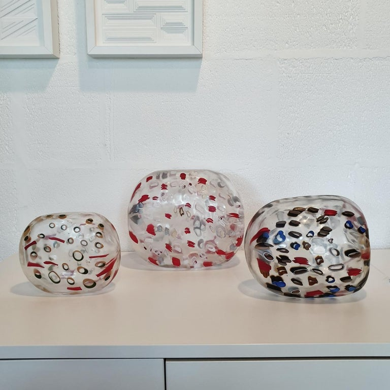 There is everything and nothing - contemporary modern abstract glass sculpture - Sculpture by Hilary Crawford