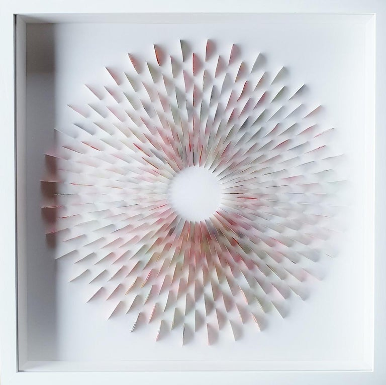 Eliza Kopec Abstract Painting - Random Nippon - contemporary modern abstract geometric paper relief