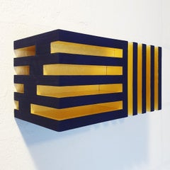 Luminosité changeante - contemporary modern geometric sculpture painting relief