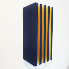 Luminosité verticale - contemporary modern geometric sculpture painting relief