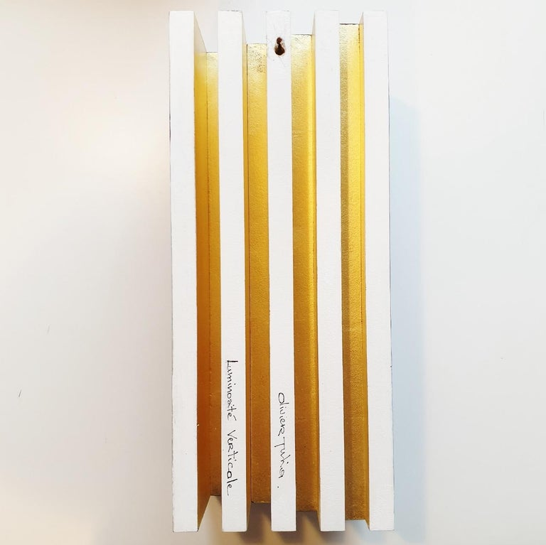 Luminosité verticale - contemporary modern geometric sculpture painting relief For Sale 2