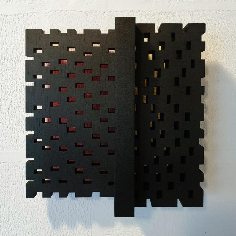 Olivier Julia Abstract Painting - Superposition urbaine 22/30 - contemporary modern sculpture painting relief