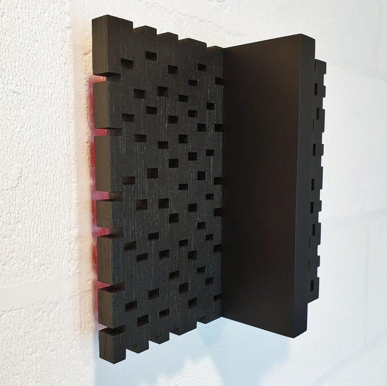 Superposition urbaine 22/30 - contemporary modern sculpture painting relief - Abstract Geometric Painting by Olivier Julia