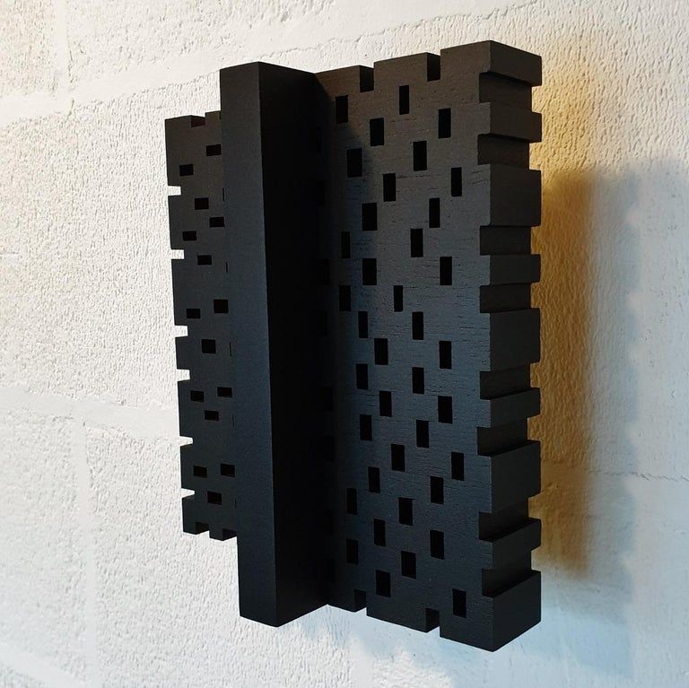Superposition urbaine 22/30 - contemporary modern sculpture painting relief - Brown Abstract Sculpture by Olivier Julia