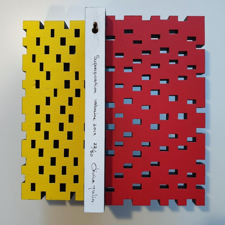 Superposition urbaine 22/30 - contemporary modern sculpture painting relief For Sale 1