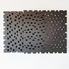 Reflexion ritmique I - contemporary modern geometric sculpture painting relief