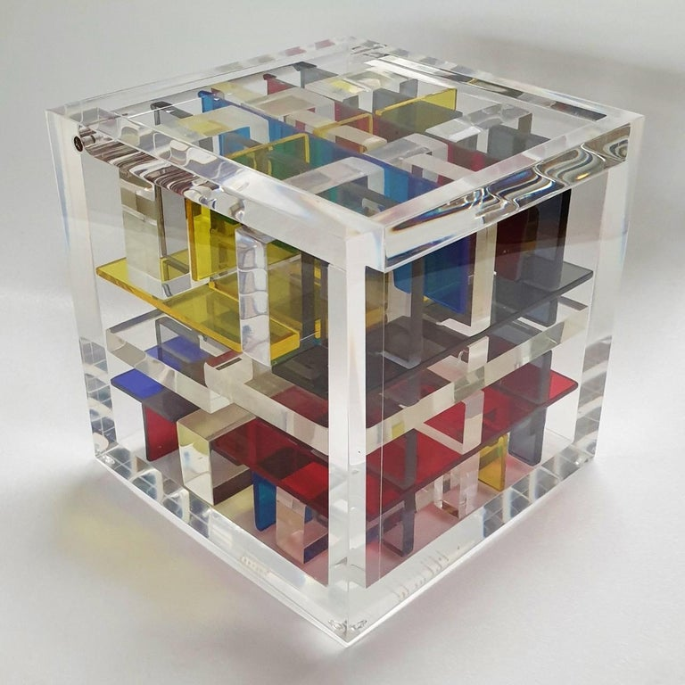 Haringa + Olijve Abstract Sculpture - New York City - contemporary modern abstract geometric cube sculpture