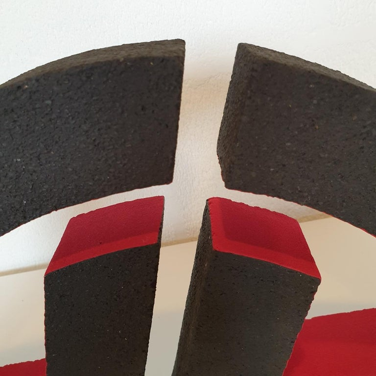 Untitled - contemporary modern abstract geometric ceramic sculpture object For Sale 2