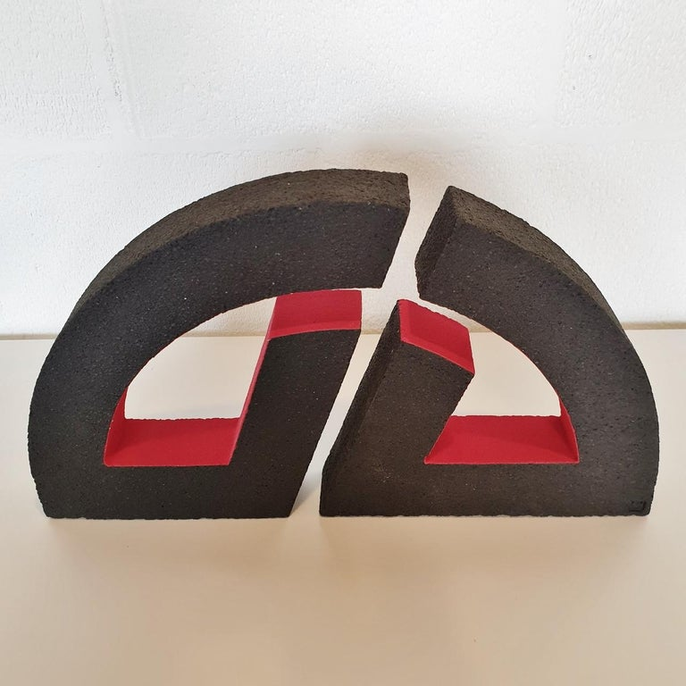 Untitled - contemporary modern abstract geometric ceramic sculpture object For Sale 1