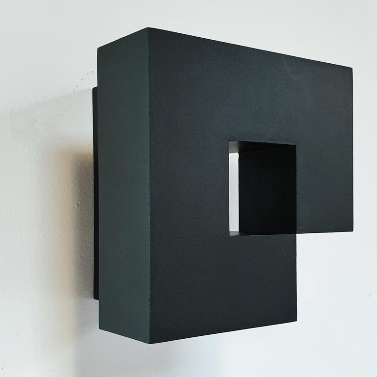 Carré architectural V no. 5/15 - contemporary modern abstract wall sculpture - Brown Abstract Painting by Olivier Julia