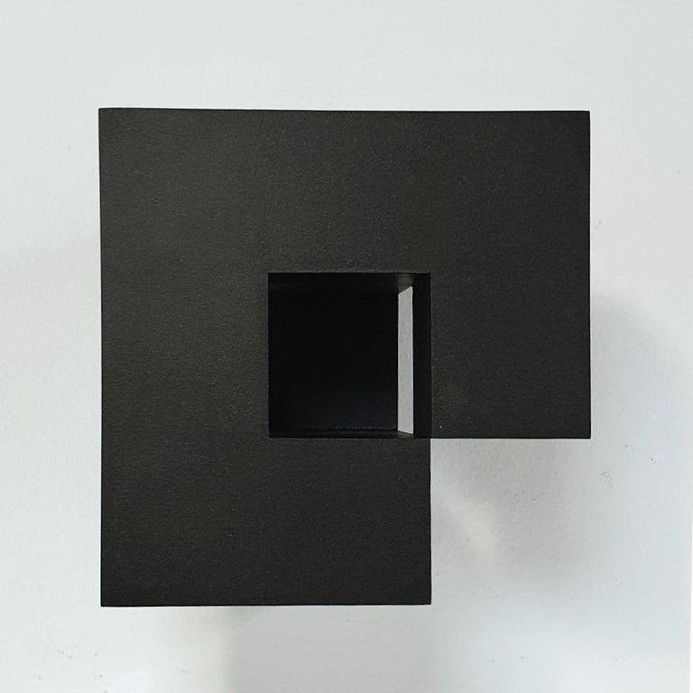 Carré architectural V no. 5/15 - contemporary modern abstract wall sculpture - Abstract Geometric Painting by Olivier Julia