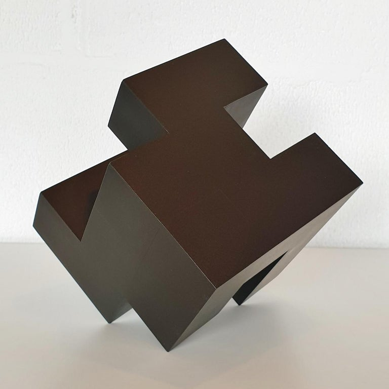 Cube architectural I no. 3/15 - contemporary modern abstract wall sculpture - Abstract Geometric Sculpture by Olivier Julia