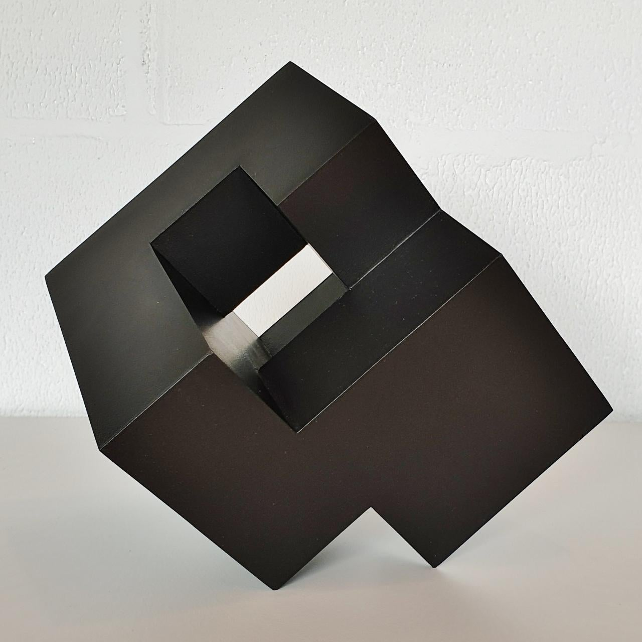 Cube architectural I no. 3/15 - contemporary modern abstract wall sculpture