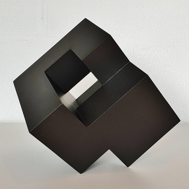 Olivier Julia Abstract Sculpture - Cube architectural I no. 3/15 - contemporary modern abstract wall sculpture