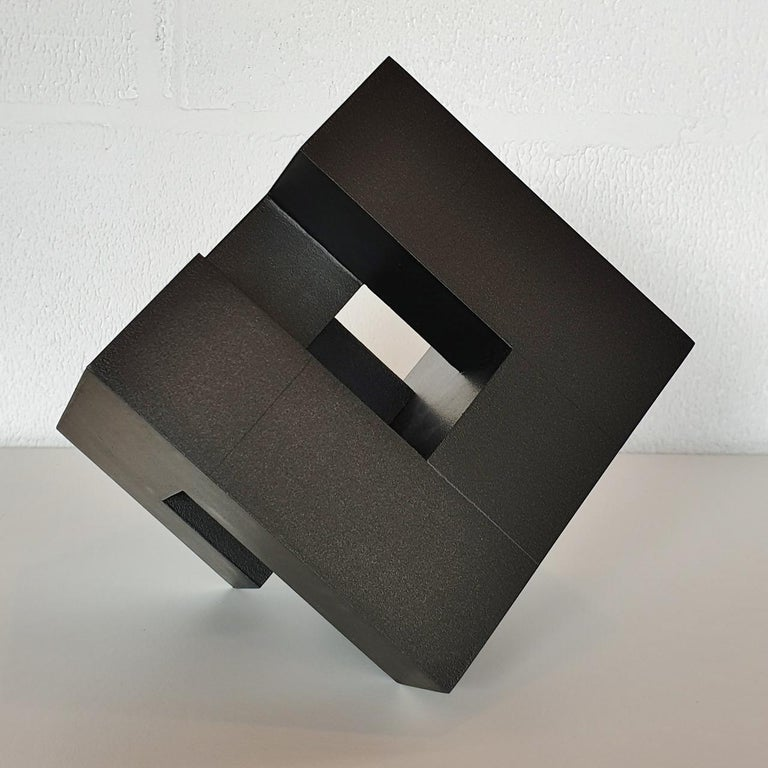 Cube architectural I no. 3/15 - contemporary modern abstract wall sculpture For Sale 1