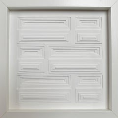 Composition horizontal rectangles 5B - contemporary modern painting relief