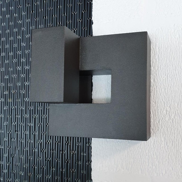 Carré architectural VI no. 14/15 - contemporary modern abstract wall sculpture - Abstract Geometric Sculpture by Olivier Julia