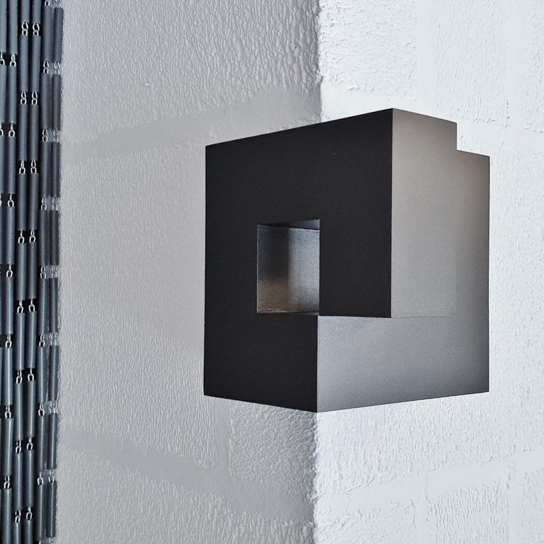 Olivier Julia Abstract Sculpture - Carré architectural VI no. 14/15 - contemporary modern abstract wall sculpture