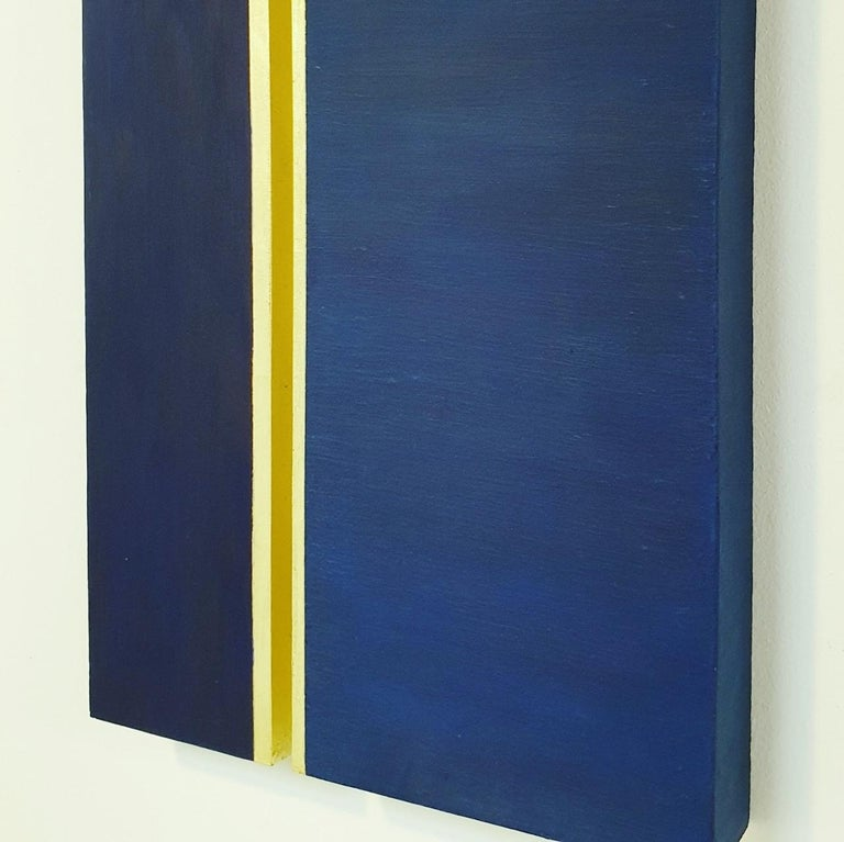 Rayon lumineux - blue gold contemporary modern sculpture painting relief For Sale 2
