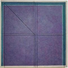 Fenêtre vers le nord - contemporary modern geometric sculpture painting panel