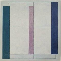 Fenêtre transparente - contemporary modern geometric sculpture painting panel