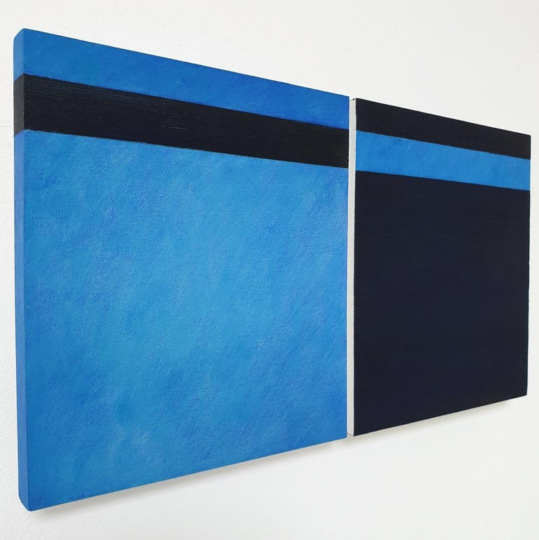 Juxtaposition II - contemporary modern geometric sculpture painting panel - Abstract Geometric Sculpture by Olivier Julia
