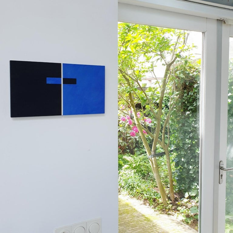 Juxtaposition IV - contemporary modern geometric sculpture painting panel - Painting by Olivier Julia