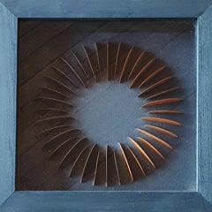 Mini Orange - contemporary modern abstract geometric paper relief