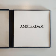 Amsterdam  7/50- collectors box with ten black-white etching aquatint prints