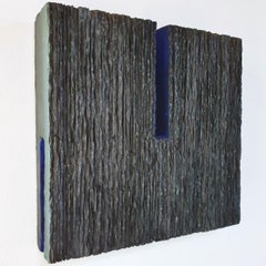 Centre - black blue contemporary modern abstract sculpture painting
