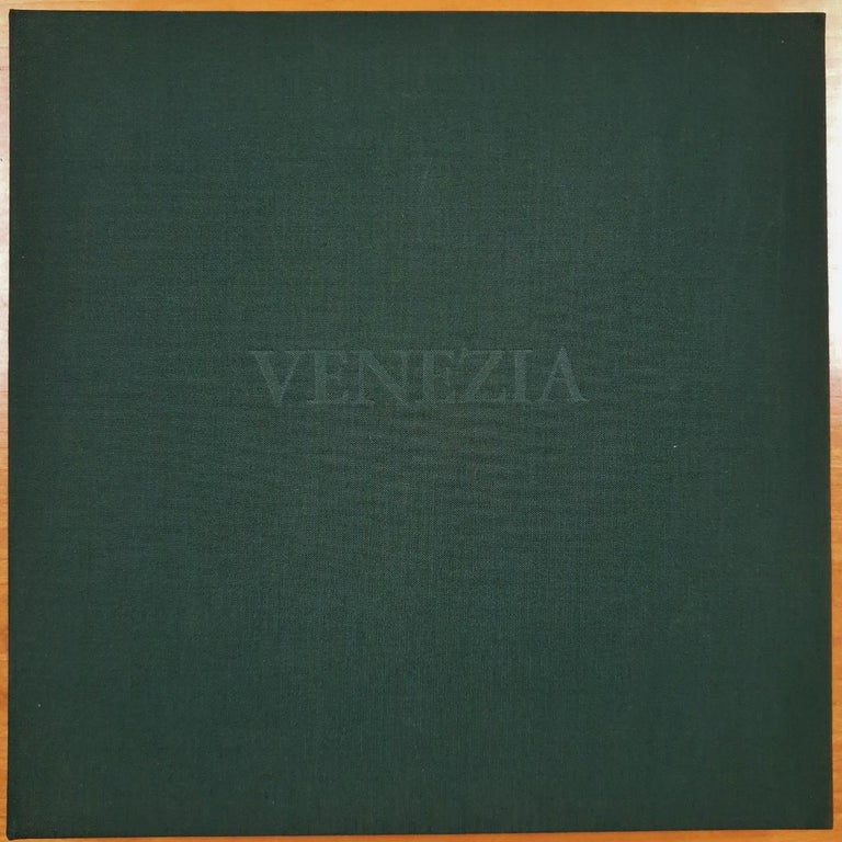 Venice  14/50 - collectors box with ten black-white etching aquatint prints  - Print by Olivier Julia