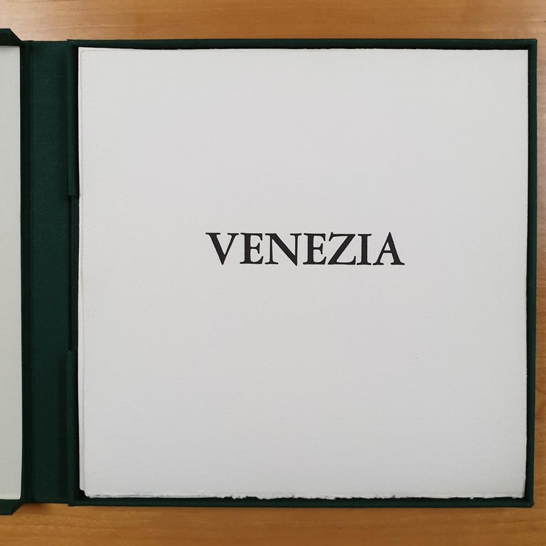 Olivier Julia Abstract Print - Venice  14/50 - collectors box with ten black-white etching aquatint prints