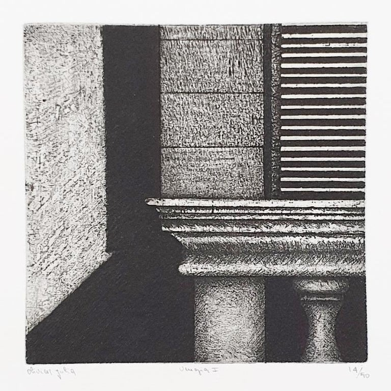 Venezia (Venice) is a unique collectors box for everyone with an interest in contemporary modern minimalist prints. This custom made box contains 10 small etching aquatint prints depicting details of old Venice building details. Only a few boxes