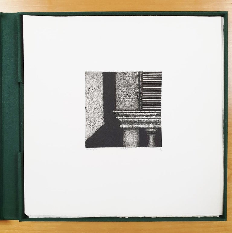 Venice  14/50 - collectors box with ten black-white etching aquatint prints  - Minimalist Print by Olivier Julia