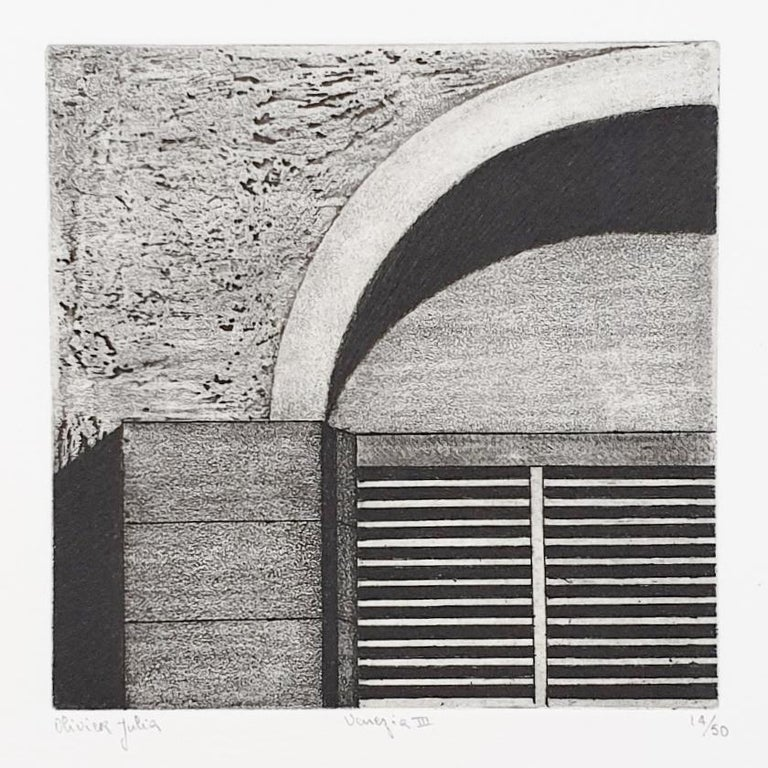 Venice  14/50 - collectors box with ten black-white etching aquatint prints  For Sale 4