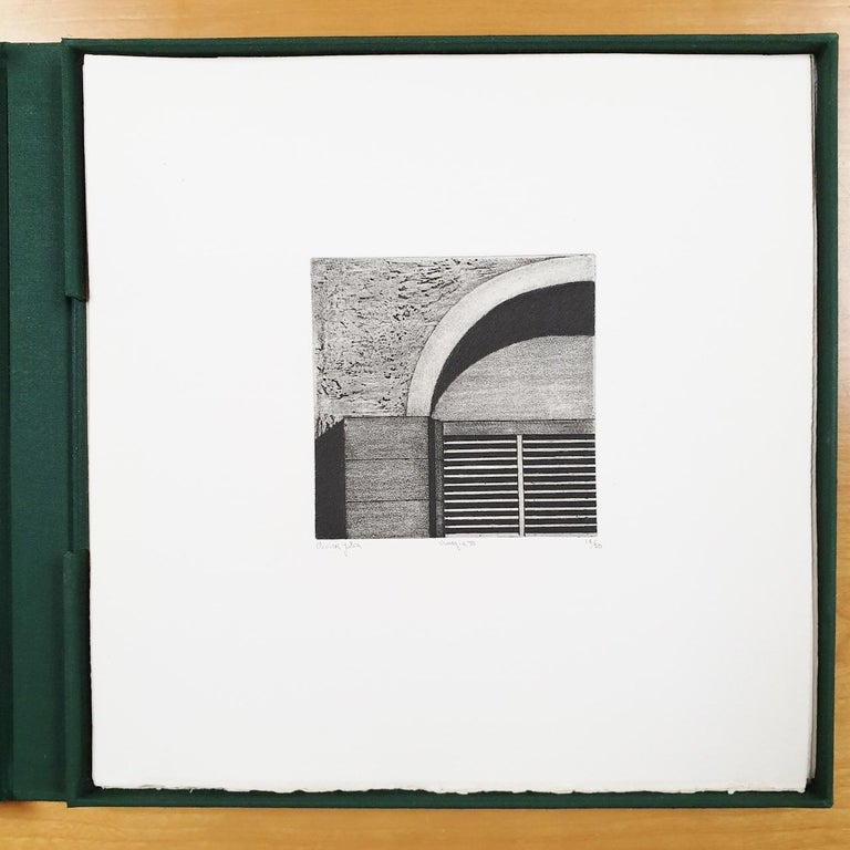 Venice  14/50 - collectors box with ten black-white etching aquatint prints  For Sale 3