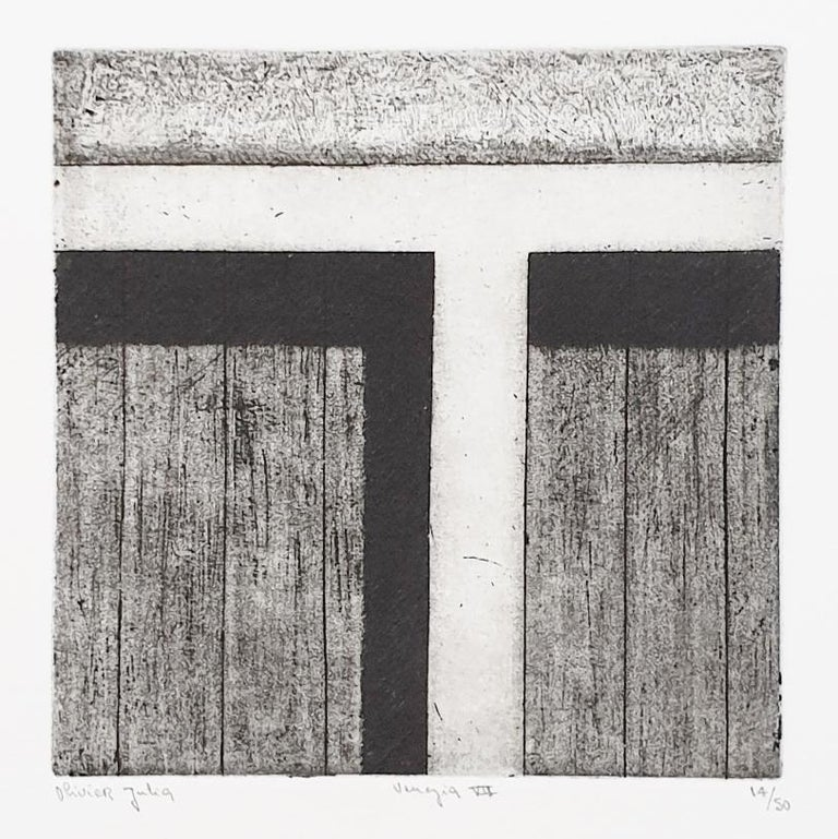 Venice  14/50 - collectors box with ten black-white etching aquatint prints  For Sale 10