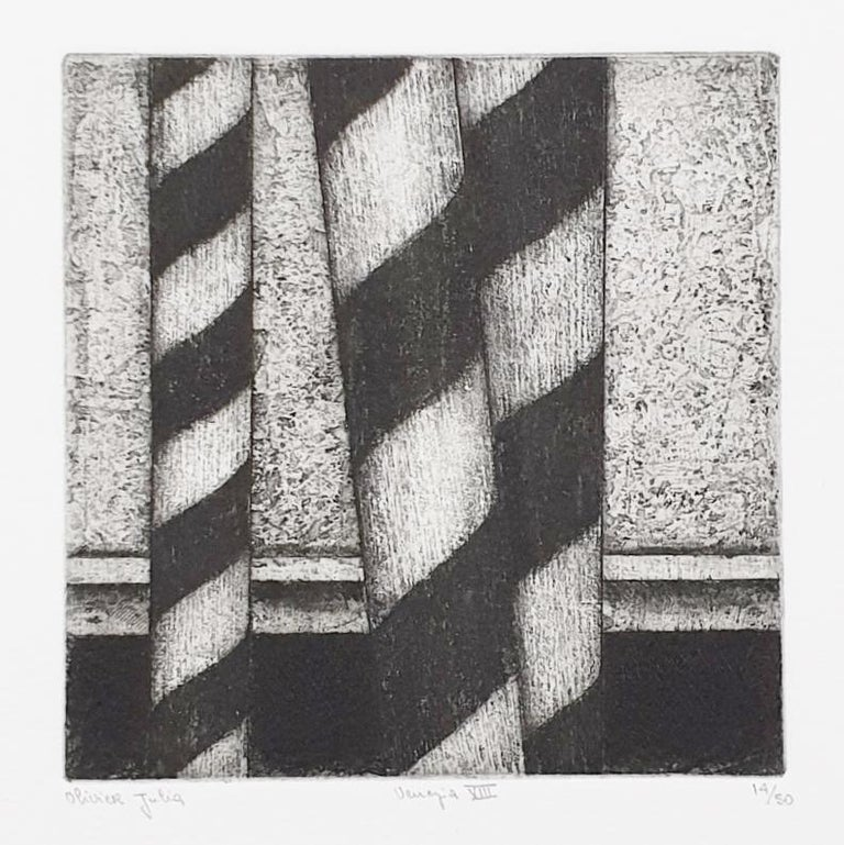 Venice  14/50 - collectors box with ten black-white etching aquatint prints  For Sale 11