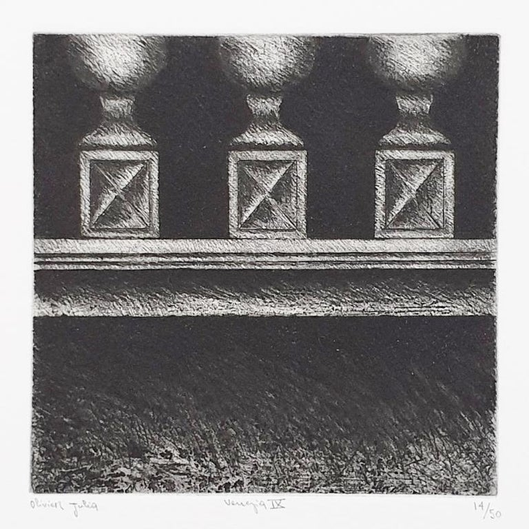 Venice  14/50 - collectors box with ten black-white etching aquatint prints  For Sale 12
