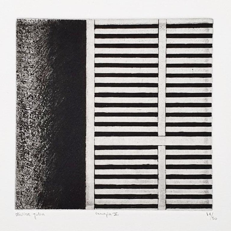 Venice  14/50 - collectors box with ten black-white etching aquatint prints  For Sale 13