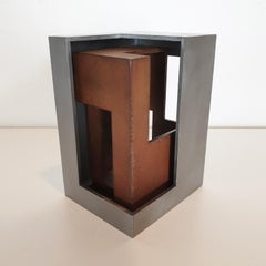 Pareja 01 - contemporary modern abstract geometric steel sculpture