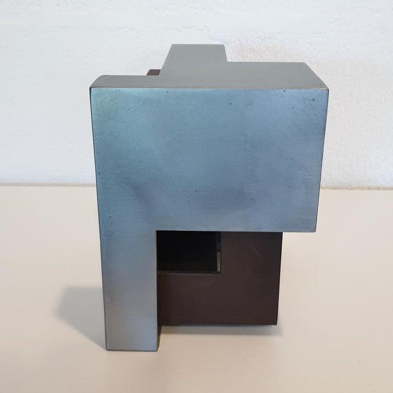 Pareja 03 - contemporary modern abstract geometric steel sculpture 3