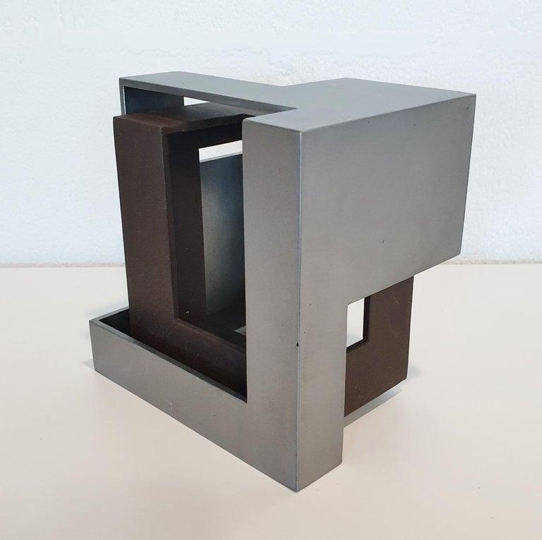 Pareja 03 - contemporary modern abstract geometric steel sculpture 4