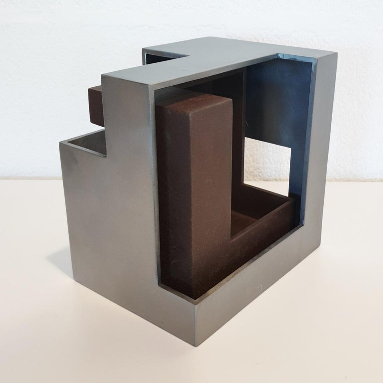 Pareja 03 - contemporary modern abstract geometric steel sculpture - Contemporary Sculpture by Eduardo Lacoma